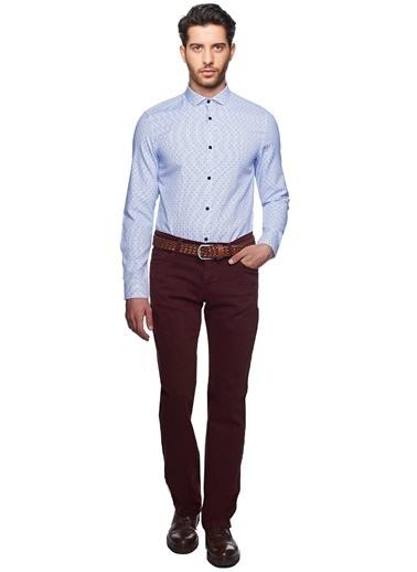 Puantiyeli Slim Fit Gömlek-Altınyıldız Classics